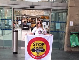 DPAC Sheffield Protests Against DWP Metro Adverts
